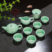 High quality Celadon Kung Fu tea set Teapot Cup Gift Set Retro Home Decoration for business gift