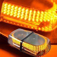 FUGSAME 240 Magnetic Roof Top Car Truck LED Strobe Light Block Lamp White/ Amber Drop Shipping
