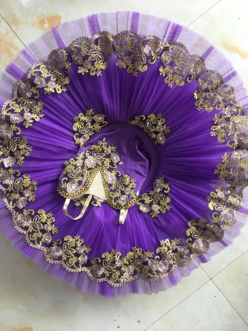 Picture of 2017 New Adult Purple Ballet Tutu Performance Professional Classical Ballet Tutus Girls Pancake Tutu Nutcracker