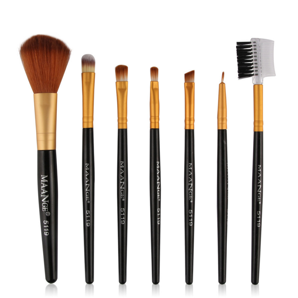 Atacado 7 pcs Pincéis de Maquiagem Cosméticos Sombra Eye Shadow Top  Foundation Blending Brush Tool Kits 5 cores 5e274d6bd0