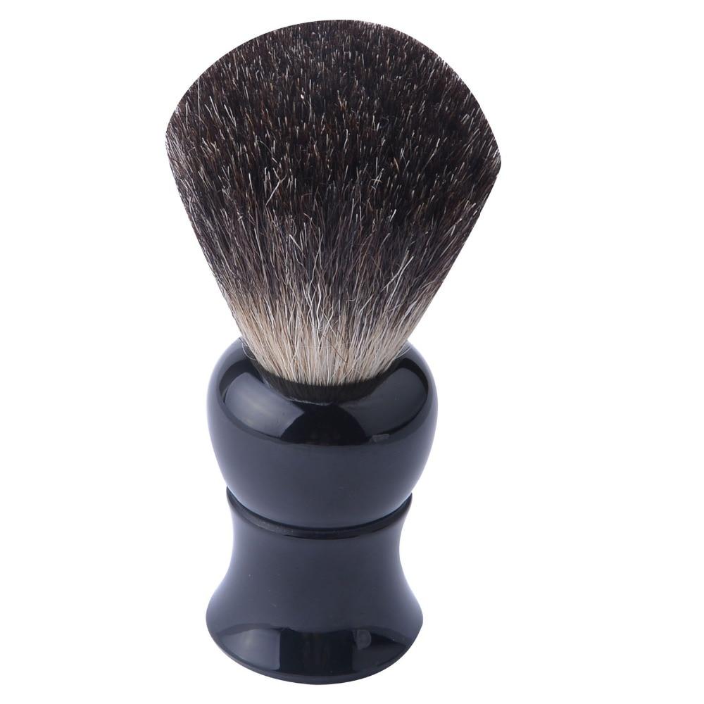 Pure black badger hair shaving brush with acrylic handle 22*65mm knots best black resin handle расчески dessata расческа dessata hair brush mini black black черный черный