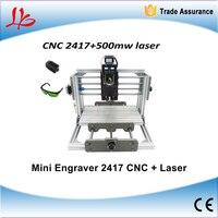 Mini CNC 2417 500mw Laser CNC Engraving Machine PCB Milling Machine With GRBL Control