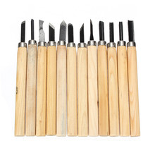New 12 Pcs Wood Carving Chisel Work Tools Woodworking Chisels Carpenter