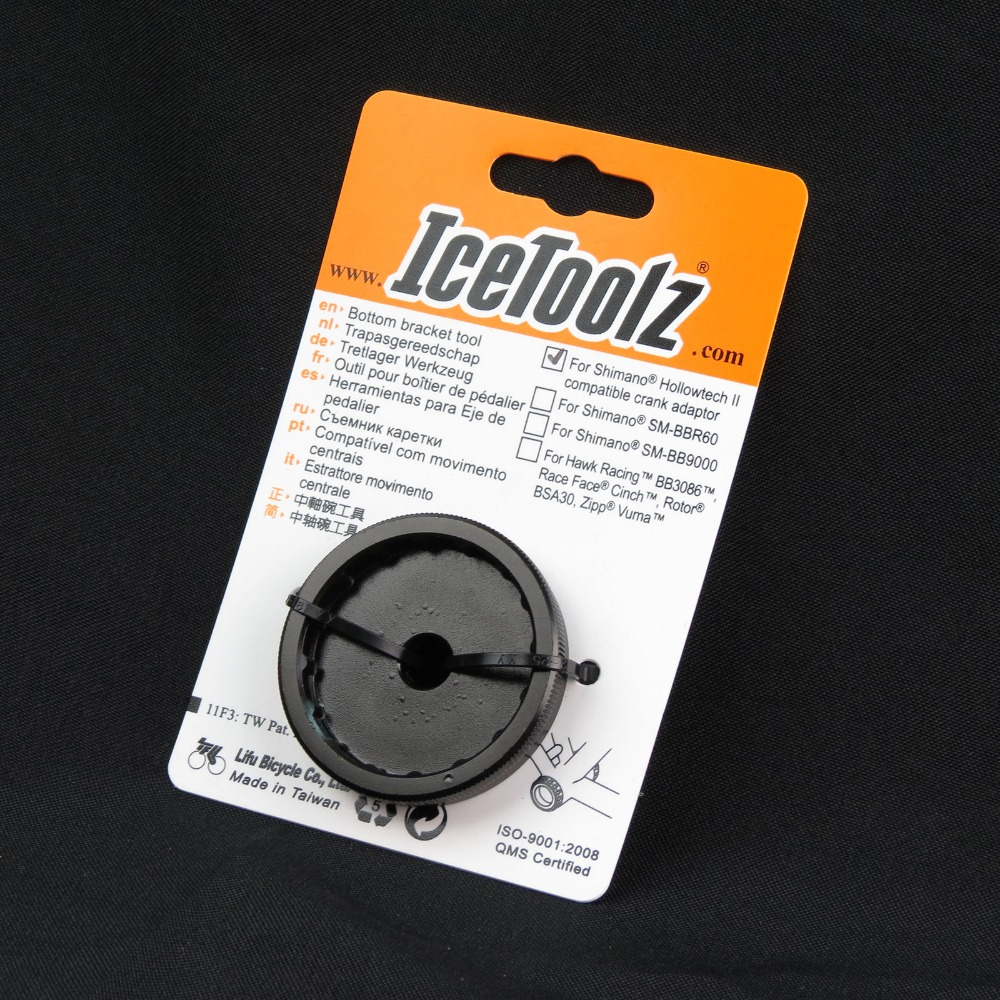 IceToolz 11F3 Bottom Bracket Tool for Shimano Compatible Bike Crank Adaptor Tool Bike Repair Tools Cr-Mo Steel