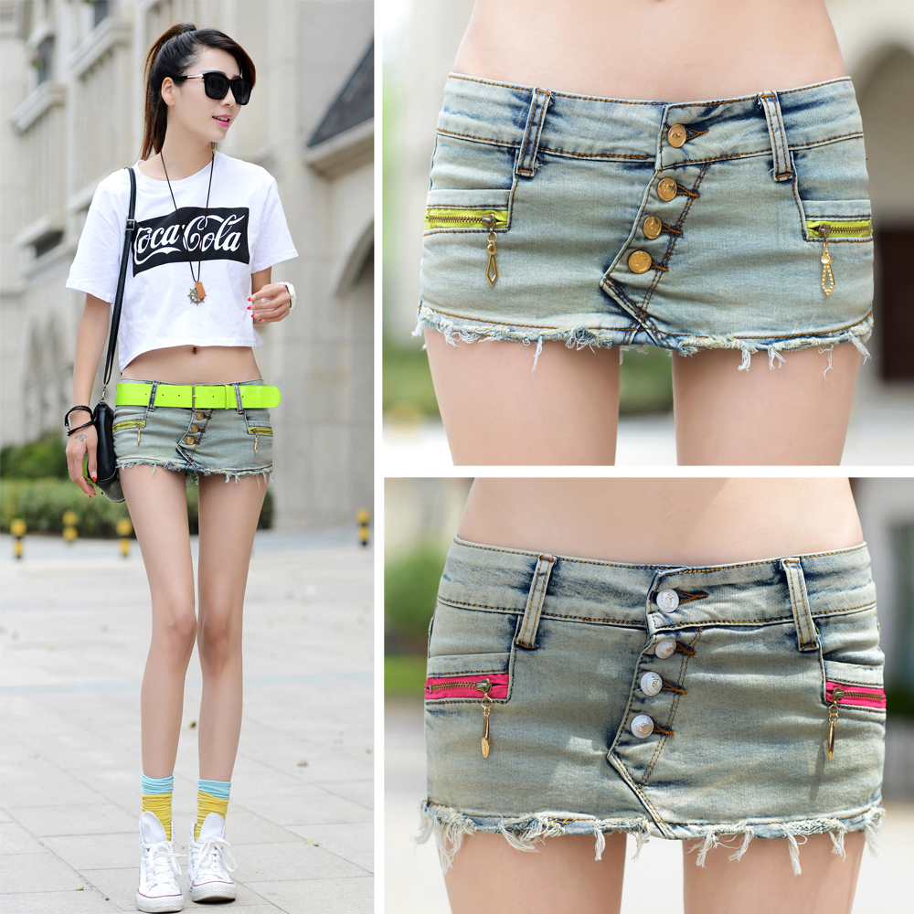 Girls Short Denim Skirt Feminino Slim Womens Jeans Skorts Skirts ...