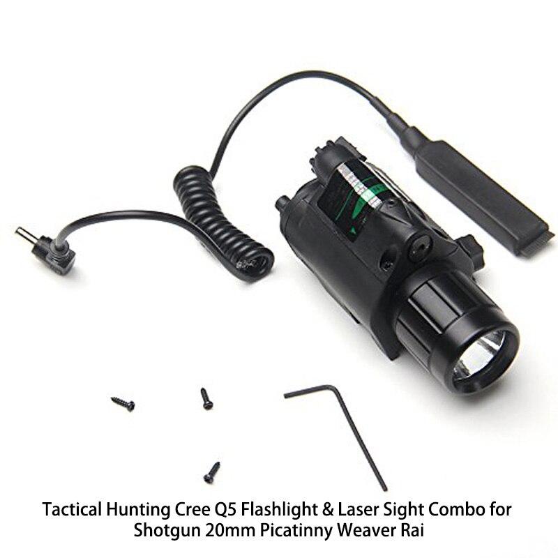 இTactical Caza cree Q5 linterna y mira láser Combo para Shotgun ...