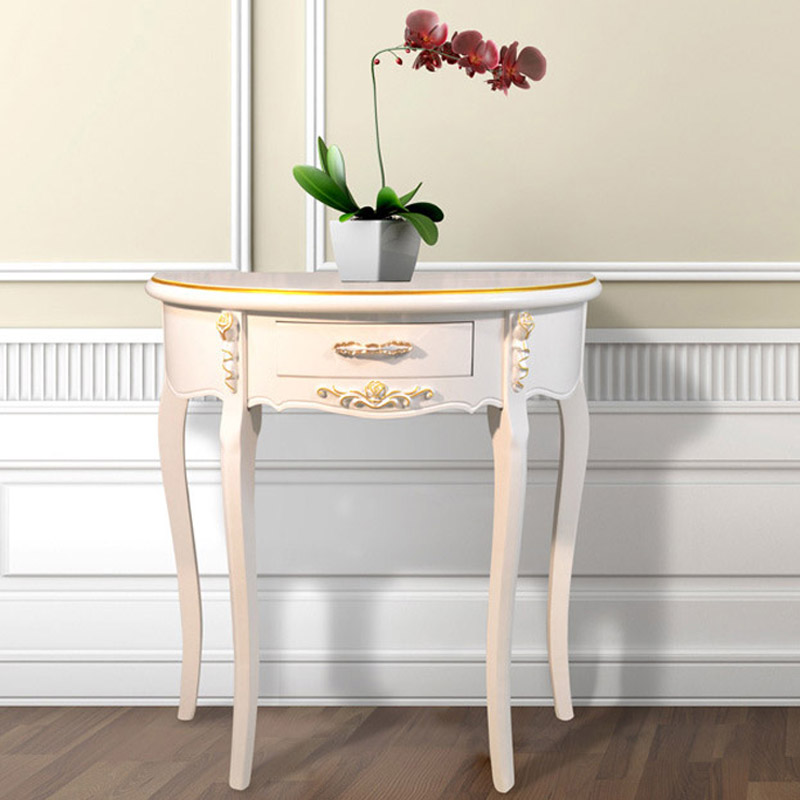 Cheap Half Moon Station Side Table Console Table Factory Outlets European  Style Entrance Station Half Roundtable In Console Tables From Furniture On  ...