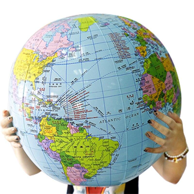 54CM gonflable Globe carte balle géographie apprentissage monde éducatif terre océan plage balle enfants géographie fournitures éducatives