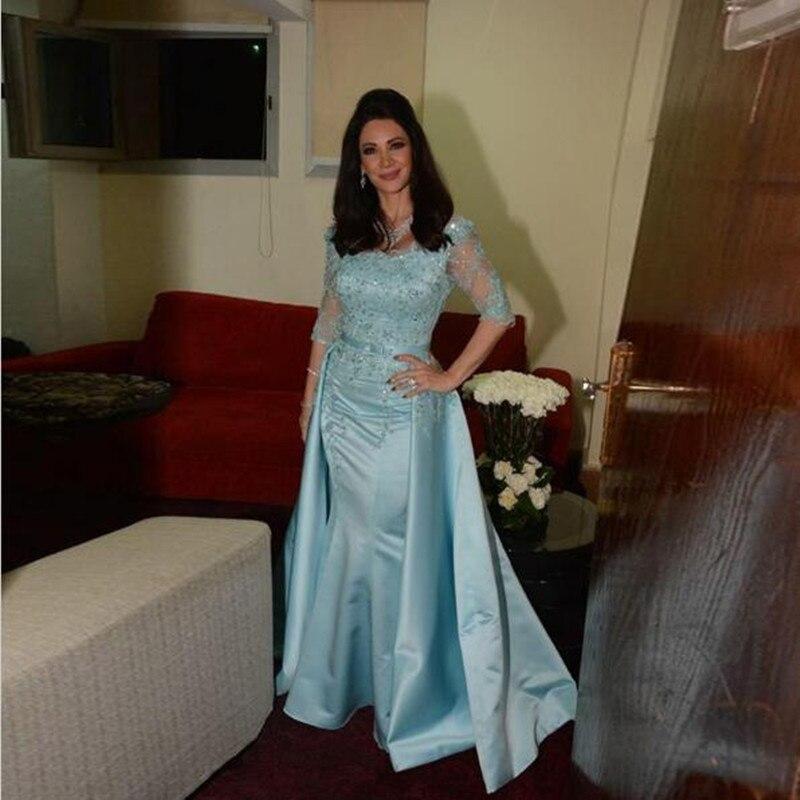 2019 Vintage mère de la mariée robes élégant demi manches Satin Appliques perles robes de soirée mère robe