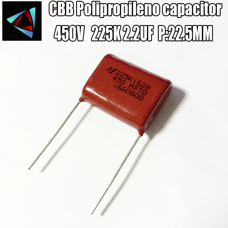 2pcs Polyproplene Safety Capacitor 2.2UF 275V X2 MKP62 225K Pitch27mm