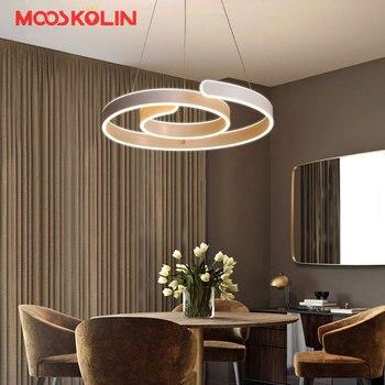 Neue design D52cm Moderne führte kronleuchter für wohnzimmer esszimmer bar  acryl aluminium körper Led-beleuchtung deckenleuchte leuchten
