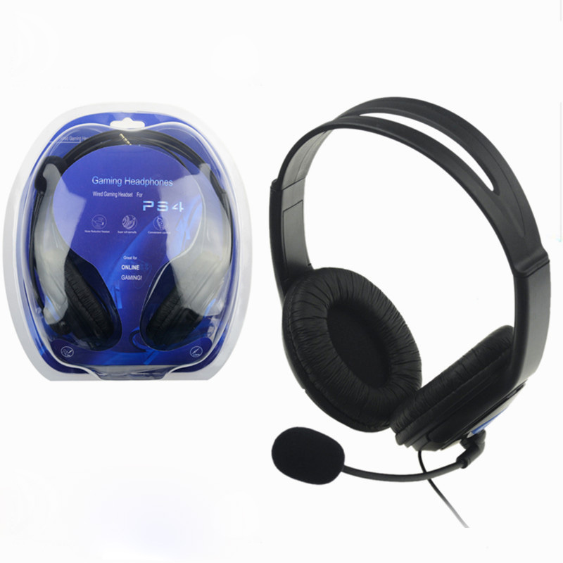 Wired Gaming Headset Earphones Headphones With Microphone Mic Stereo
