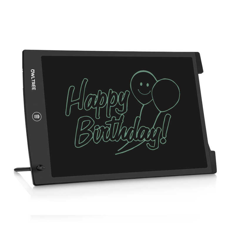 MeterMall 12 Inch LCD Writing Tablet Drawing Board Electronic Drawing Tablet Kids Doodle Board Writing Pad with Lock Blue