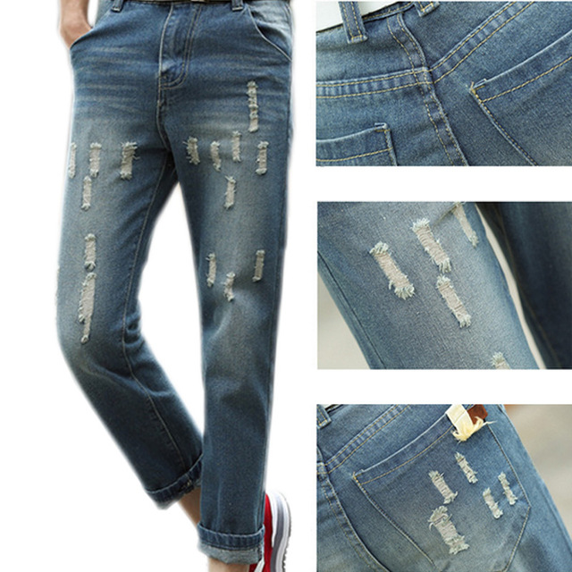 Fashion Men Tight Denim Pants Stretch High Waist Slim