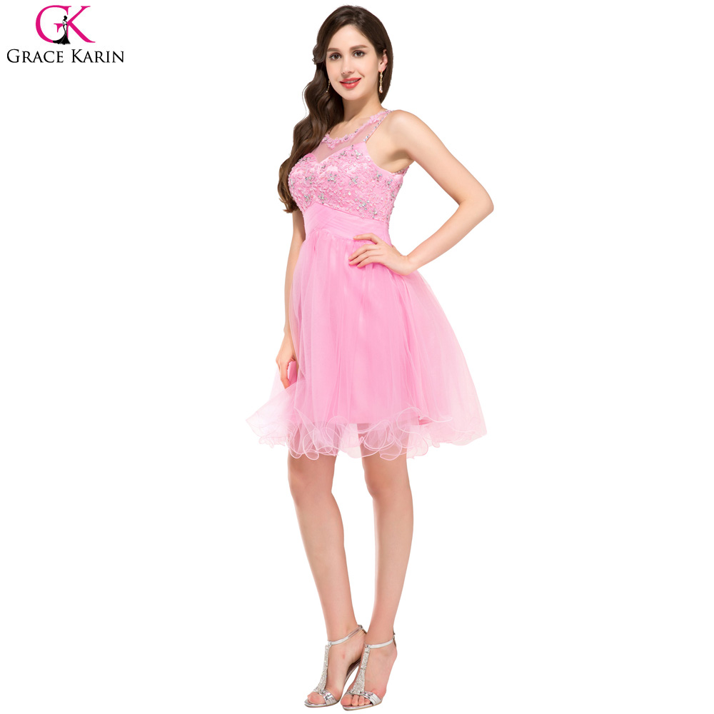 Grace Karin Pink Purple Blue Green Lace Cheap Bridesmaid Dresses ...