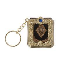 Mini Arche Quran Buch Echte Papier Können Lesen Arabisch Die Koran Keychain Muslimischen Schmuck