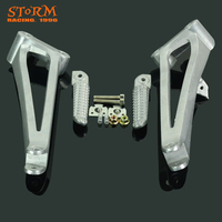 Rear footpegs Foot pegs Footrest Pedals Bracket For YAMAHA YZF R1 2009 2010 2011 2012 2013 2014 09 10 11 12 13 14 Motorcycle