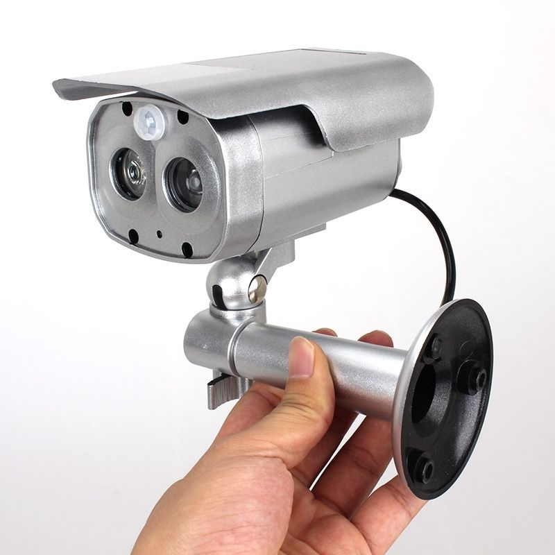 Motion Detection Bullet Camera Security Dummy Solar Powered w/ Flashing LED bullet camera tube camera headset holder with varied size in diameter