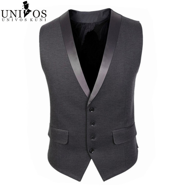 2016 New Arrival Men Suit Vest Brand Clothing Spring Fashion Sleeveless Dress Man Business Blazer Tops Slim Fit Waistcoat Z2285
