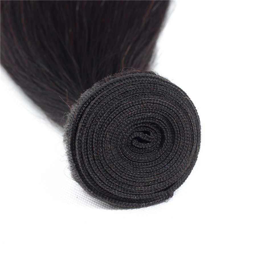 По бразильским прямым волосам оптом человеческие волосы 100% человеческих волос, двойное машинное переплетение человеческих волос 10 шт./лот