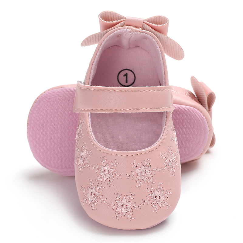 Cute Newborn Infant Baby Girls Toddler Kids Shoes Soft Sole Anti-slip PU Leather Prewalker 0-18T Crib Shoes cute baby kids floral cotton shoes toddler infants shoes bowknot prewalker shoes