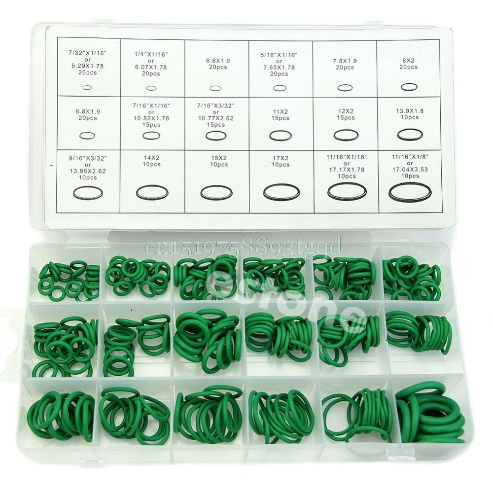 270Pcs 18 Sizes Kit Air Conditioning HNBR O Rings Car Auto Vehicle Repair