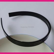 """10 шт. 13 мм 1/"""" Черный Простой пластик волос повязки на голову с двумя рядами Маленькие зубы подходит для выстроились ткани, сделка для оптом"""