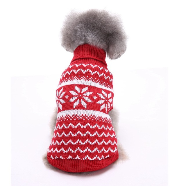 Kersttrui Mopshond.Us 11 96 Pet Christmas Sweaters Reindeer Dog Clothes Autumn Striped Sweet Christmas Sweater Halloween Snowflakes Dog Clothes Winter In Dog Sweaters