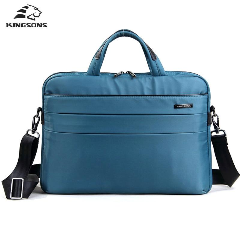 Kingsons Brand Unisex 14 inch Business Laptop Handbag Shoulder Bag Large Capacity Multifunction Waterproof Notebook Totes