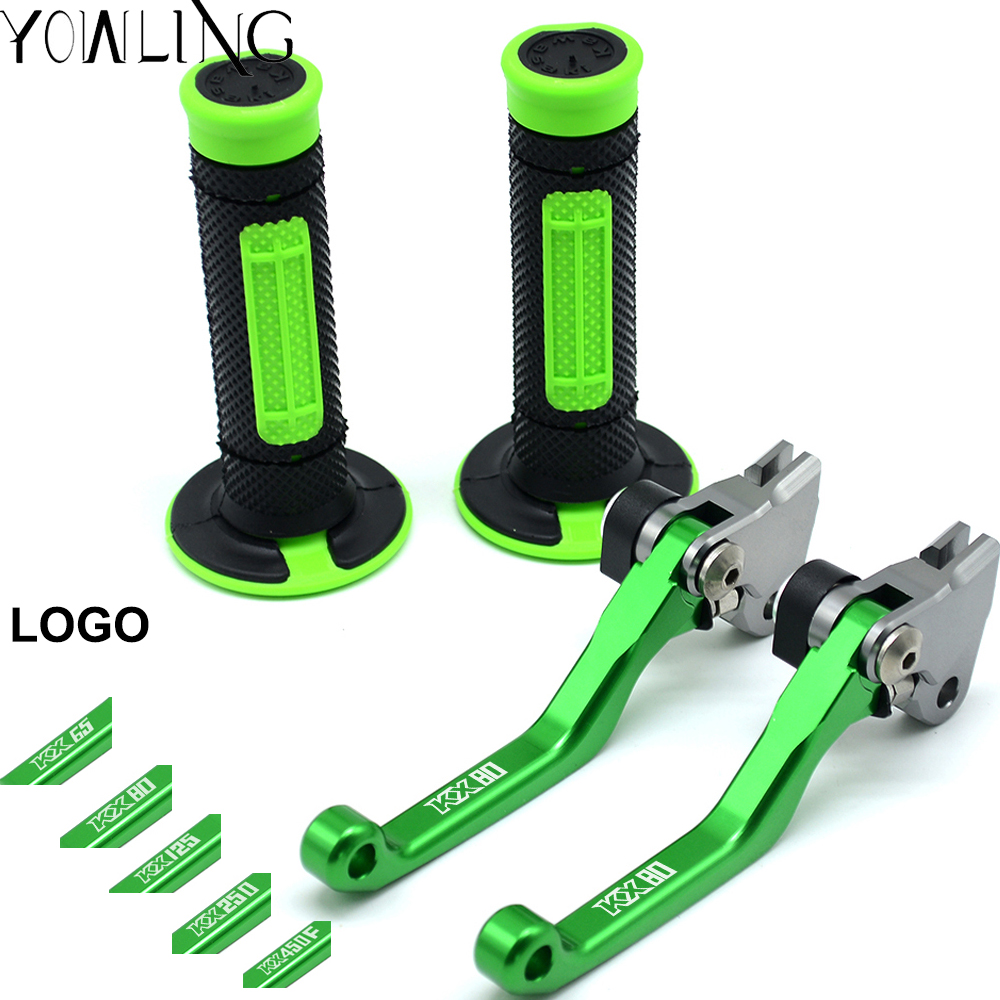 For KAWASAKI KX65 KX85 KX80 KX 85 KX250F KX 250F KLX250 Motocross brake lever and hand grip Dirt Bike Pivot Brake Clutch Levers motorcycle brake lever and hand grip dirt bike pivot brake clutch levers for kawasaki kx65 kx80 kx85 kx100 kx 80 85 2001 2016