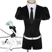 Biamoxer Japanese Anime Land of the Lustrous Houseki no Kuni Jade Yellow Diamond Cosplay Costume Playsuit Outfits Uniforms Suits
