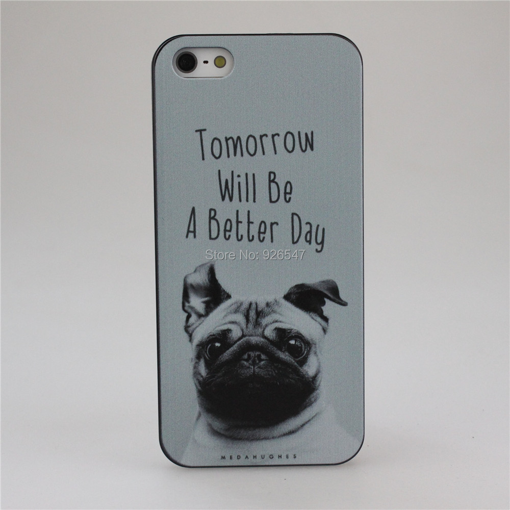 Tomorrow Will Be A Better Day Pug Face Style Hard Case Cover for Apple iPhone 4 4S 5 5S SE 5C 6 6S 6 Plus 7 Plus
