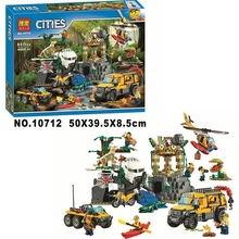купить 10712 Ungle Jungle Exploration Site Diy City Jungle 60161 Building Block Toys Children's Gift City Compatible по цене 2012.55 рублей