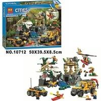 10712 Ungle Jungle Exploration Site Diy City Jungle 60161 Building Block Toys Children's Gift City Compatible