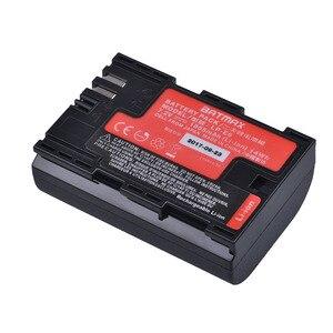 Image 2 - 2pc LP E6 LP E6 LP E6N batteria giappone Sanyo Cell + LED caricatore doppio USB per Canon EOS 6D 7D 5DS 5DSR 5D Mark II 5D 60D 60Da 70D 80D