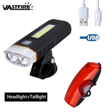 Waterproof Bike Light 2XM-L T6 Front Handlebar MTB Road Bicycle Headlight with Safety Taillight