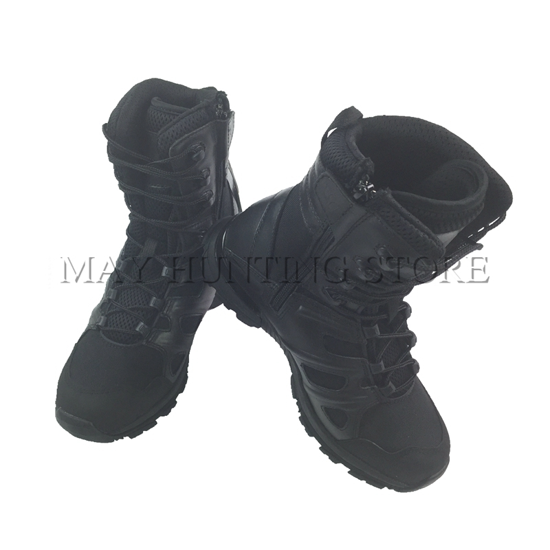 High Quality Leather Tactical Boots Outdoor Sports Desert Boots Men Black Color Size 39 40 41 42 43 44 45