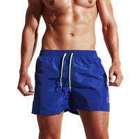 Mens 2017 Summer Fashion Briefs Quick Dry Bodybuilding Cotton Beach Shorts Swimwear Workout Fitness Causal Athletic