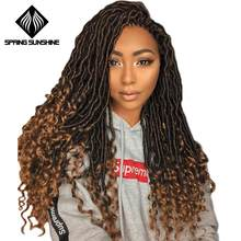 Spring sunshine Crochet Hair Extensions Bohemian Faux Locs Curly Crochet Braiding Hair Synthetic Hair Ombre Braids(China)