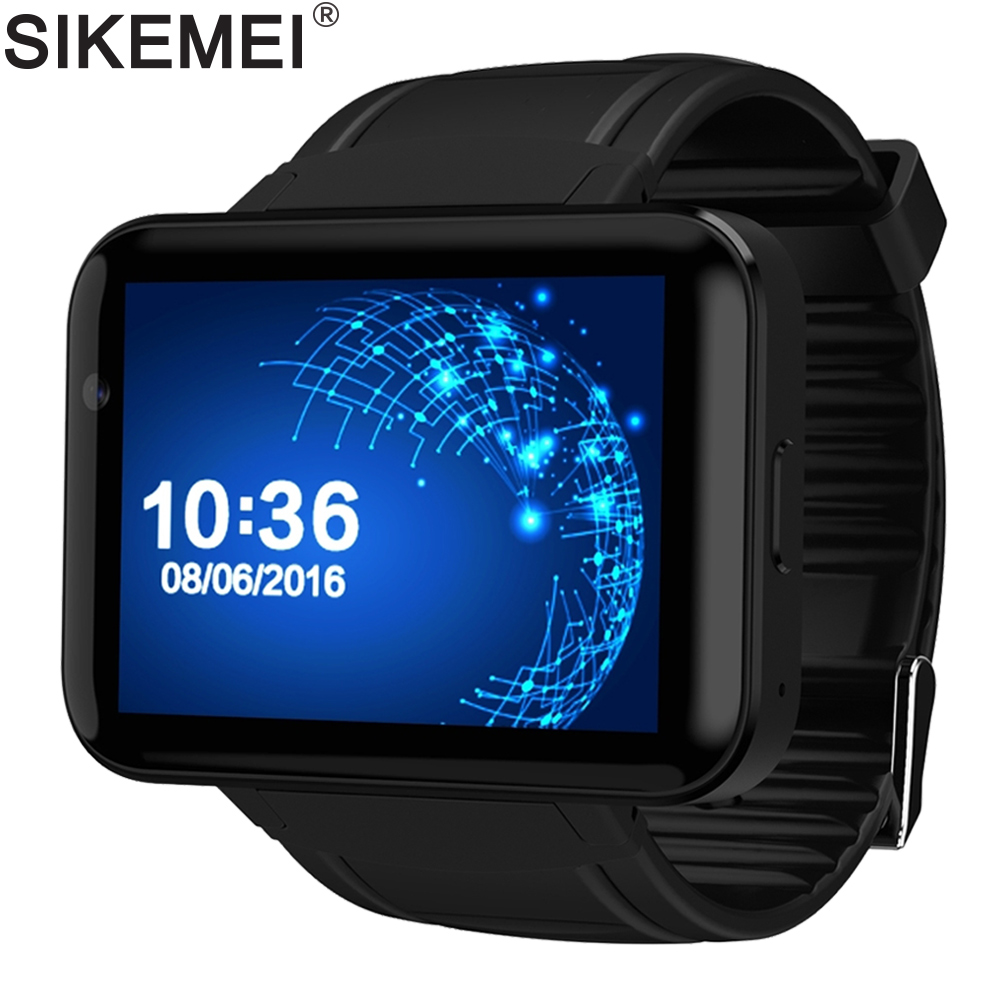 SIKEMEI Android Montre Intelligente Bluetooth Sports Tracker Montre-Bracelet 3g WCDMA Réseau WiFi GPS Caméra Grande Batterie DM98 MTK6572