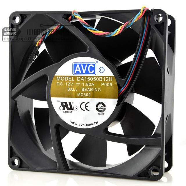 Entrega gratuita. DA15050B12H DC12V 1.80 A 50mm 150*150*15 cm de gran volumen de aire del ventilador