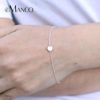 e Manco Gold Circle Bracelets 925 Silver Cylinder Trendy Charm Bracelet Women Fine Jewelry Simple Gold Chain Link Party Bracelet