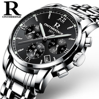Relogios 2018 Newest High quality Multi Functional Men Silver stainless steel  Business waterproof Quartz watch Hot Sale zegarki|Lover's Watches|Watches -