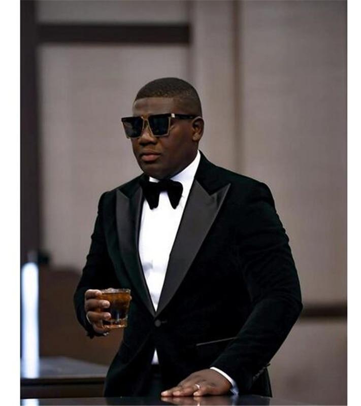 TIAN QIONG Black Floral Suits Men 2018 Slim Fit Groom Wedding Suit Shawl Collar Tuxedo Jacket