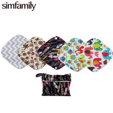 [simfamily]7Pcs Panty Liner Set Resualable Waterproof  Bamboo Charcoal Material Inner Daily Use,Mixed Color,Wholesale Selling