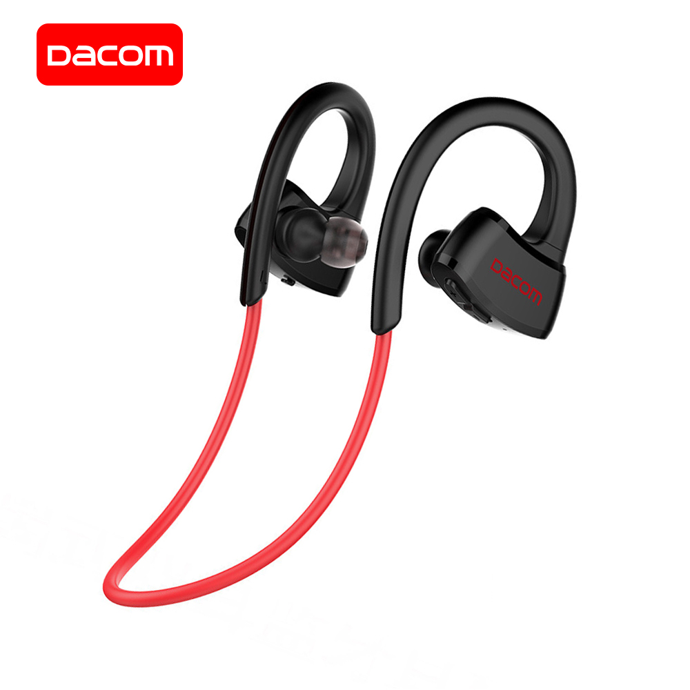 DACOM Wireless Bluetooth Headset IPX7 Waterproof Sports Headphone Built-in MP3 Player Bluetooth Earphone w/Microphone for iPhone aita at bt32 bluetooth v4 0 in ear headphone w microphone white red