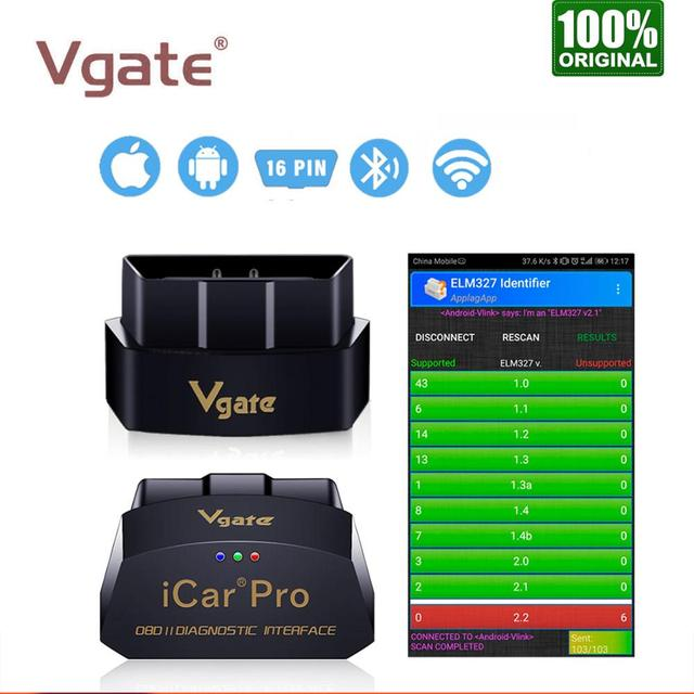 Vgate iCar Pro Wifi OBD2 Scanner Bluetooth Auto Diagnostic Tool ELM327 V2.1 iCar Pro Scanner For Android/IOS Automotive Sca