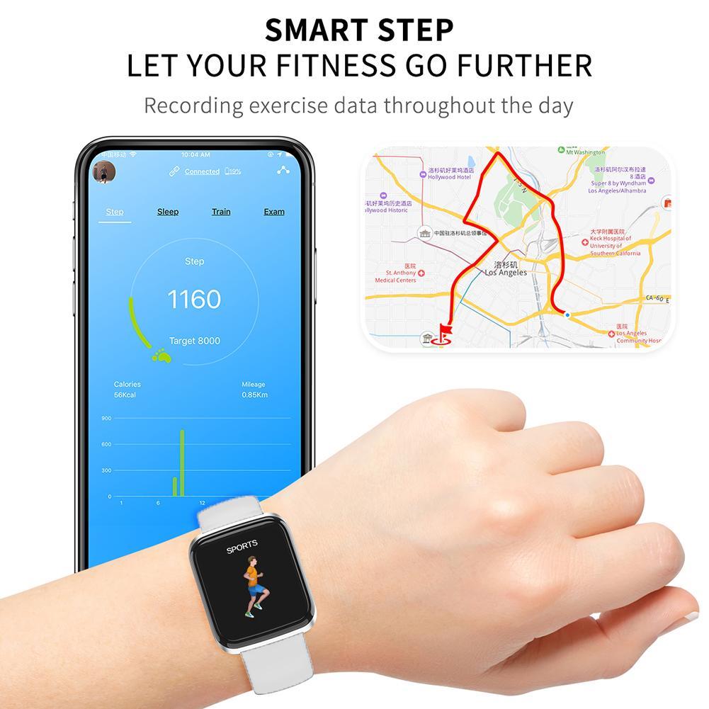 Image 4 - NAIKU CY05 Смарт часы, браслет, порты, водонепроницаемый, фитнес, пульс, Мониторинг Артериального здоровья, давление, здоровье, шаг, удаленный просмотр-in Смарт-браслеты from Бытовая электроника