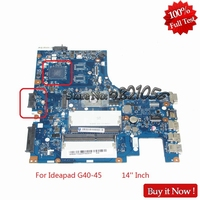 NOKOTION Mainboard ACLU5 ACLU6 NM A281 For lenovo ideapad G40 45 14 Inch laptop motherboard E1 Series E1 6010 CPU onboard Tested