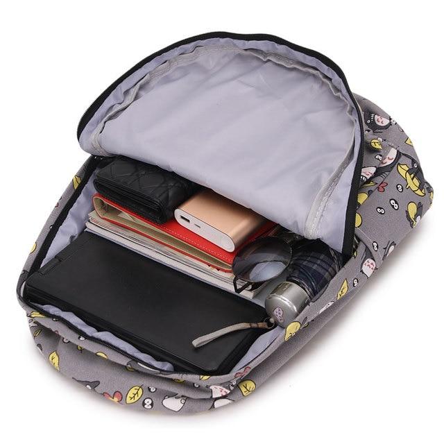 Totoro Printing Canvas Backpack School Bags